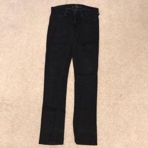 7 for all mankind black straight Jean